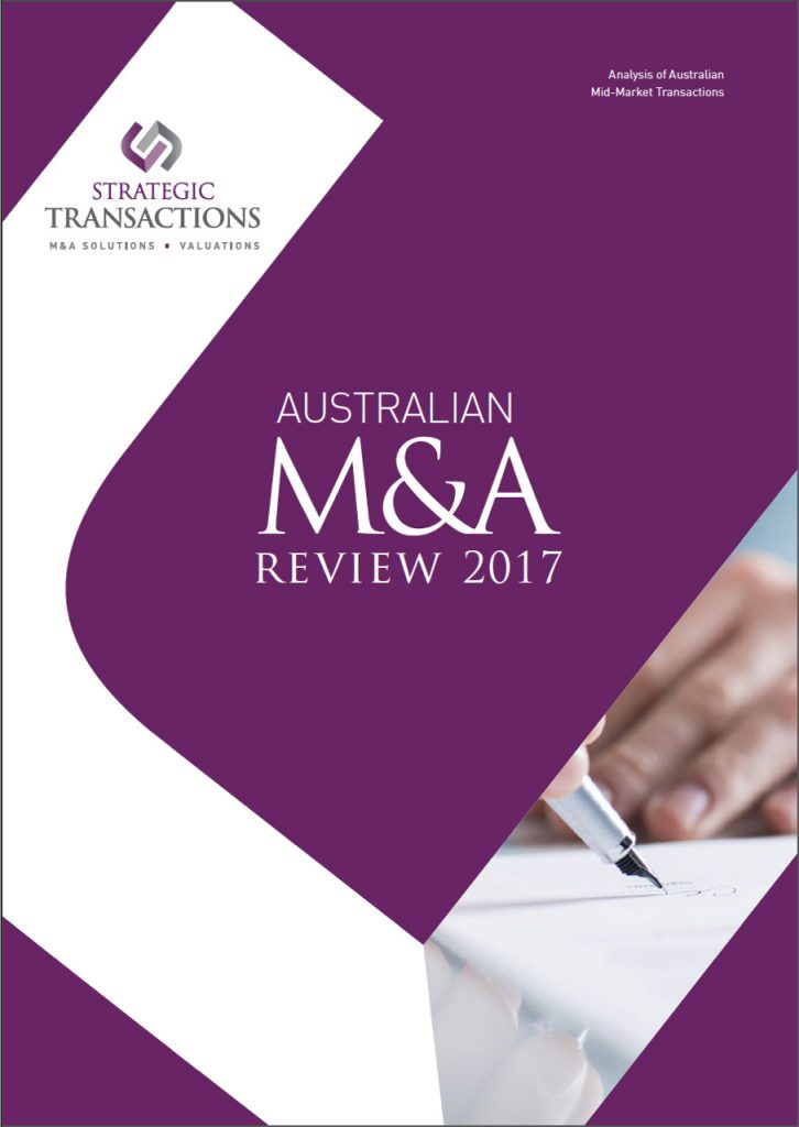 Australian M&A Review 2017 Front Page